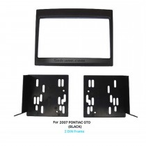 Black Double Din 2007 PONTIAC GTO Car Radio Fascia Stereo Frame Panel Audio Cover Dash Mount Trim Kits
