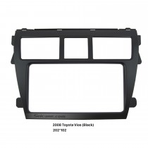 Black 202*102mm 2Din 2008 Toyota Vios Car Radio Fascia Stereo Dash DVD panel Frame Installation Kit