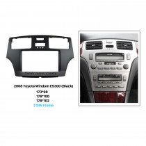 Black 2Din 2008 Toyota Windom ES300 Car Radio Fascia Stereo Dash CD Trim Installation Frame Face Plate Panel