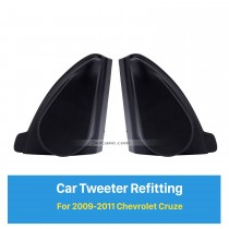 Car Horn Refit Stereo Installation Tweeter Refitting Boxes for 2009 2010 2011 Chevrolet Cruze Audio Door Angle Gums 2pcs