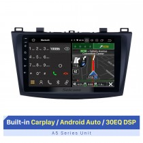9 Inch HD Touchscreen for 2009-2012 Mazda 3 Axela GPS Navigation System Car Stereo System Car Audio with GPS Support OBD2