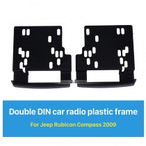 173*98mm 2Din Car Radio Fascia for 2009 Jeep Rubicon Compass Decorative Frame Dash CD Fitting Kit Installation