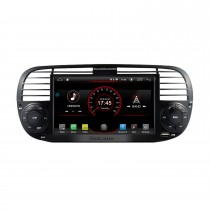 Android 8.1 7 Inch FIAT 500 2010-2015 Car Stereo Radio HD Touchscreen Head Unit GPS Navigation Bluetooth Phone MP3 Support Steering Wheel Control WIFI Backup Camera