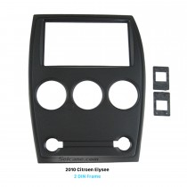 Black Double Din 2010 Citroen Elysee Car Radio Fascia Dash CD Plate Trim Kit DVD GPS Fitting Frame
