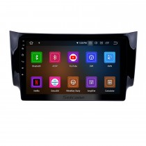 10.1 inch HD TouchScreen Android 10.0 Radio GPS Navigation System for 2012 2013 2014 2015 2016 NISSAN SYLPHY Support Bluetooth 3G/4G WiFi TPM OBD2 DVR Backup Camera USB