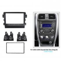 Black 2Din 2012 2013 2014 2015 Suzuki Bei Dou Xing X5 Car Radio Fascia Stereo Dash Panel Frame Trim Bezel