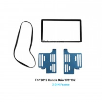 178*102mm 2Din 2012 Honda Brio Car Radio Fascia Dash Mount Kit Auto Stereo Interface Audio Frame