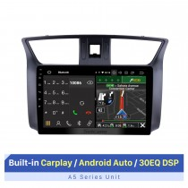 10.1 Inch Android Bluetooth Car Radio for 2012 Nissan Sylphy Support Touch Screen Bluetooth GPS Navigation AHD Camera