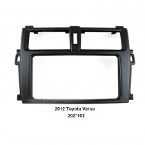 202*102mm Double Din 2012 Toyota Verso Car Radio Fascia Autostereo Panel kit Audio frame Dash CD