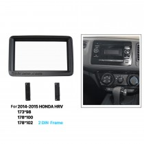 Artistic Double Din 2014 2015 HONDA HRV Car Radio Fascia Audio Frame Cover Trim Installation Auto Stereo Interface