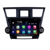 10.1 inch Android 10.0 In Dash Bluetooth GPS Navigation System for 2009-2014 Toyota Highlander with HD 1024*600 Touch Screen 3G WiFi Radio RDS Mirror Link OBD2 Rearview Camera AUX USB SD Steering Wheel Control