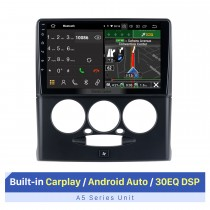 9 Inch HD Touchscreen for 2015-2018 Sepah Pride Manual A/C Auto Stereo Car GPS Navigation Stereo Support Multiple OSD Languages