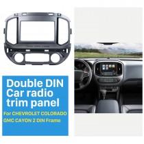 2 DIN 2015 Chevrolet Colorado GMC Cayon Car Radio Fascia Stereo Dash Surrounded Install Frame Trim Panel Car Kit Face Plate