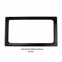202*102mm Double Din 2015 Toyota Sienna Car Radio Fascia Audio Fitting Adaptor Dash Mount Kit Frame Panel