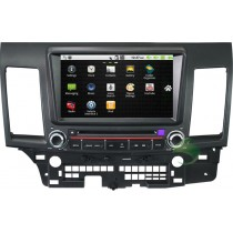 2 din All-in-one Radio Upgrade Mitsubishi Lancer/Lancer EX DVD Player Android Sat Navi Stereo with GPS Bluetooth 3G Wifi Rearview