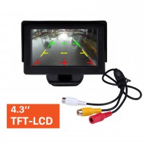 4.3 Inch HD Digtal TFT LCD Monitor Display with Backup RearView Camera Reverse Parking Assistance System