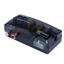 Car 2Ch Adjustable Impedance Converter High Level to Low Level Speaker Box Amplifier Time Delayer Adapter