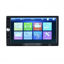 Car MP5 Player with 7 inch Digical screen support FM Radio TF Card GPS Navigation Bluetooth Audio system Support Rearview Camera AUX DVR