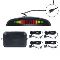 Car Wireless Automatically Parking Assistance Sensor Reverse Backup Alarm Radar System with 4 Rader Sensors LED Display Monitor