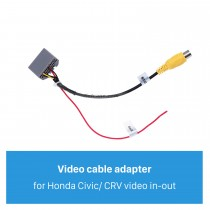Auto Car Audio Cable Plug Adapter for Honda Jazz/Fit Video in-out