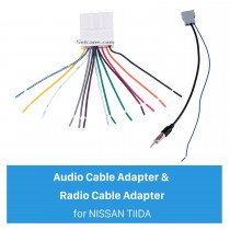Sound Wiring Harness Audio Cable Adapter and Radio Cable Adapter for NISSAN TIIDA/Sylphy/LIVINA/GENISS