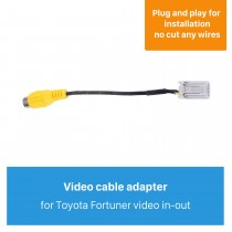 Top Video in-out Interface Audio Video Cable for Toyota Fortuner