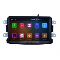 8 Inch Android 11.0 Touch Screen radio Bluetooth GPS Navigation system For 2014 2015 2016 RENAULT Deckless Duster Support TPMS DVR OBD II USB SD  WiFi Rear camera Steering Wheel Control HD 1080P Video AUX