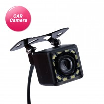 HD Car Rearview Camera with 12 LED Lights Reverse Parking Backup Monitor Kit CCD CMOS