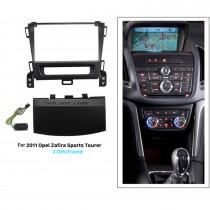Black 2Din Car Radio Fascia for 2011 Opel Zafira Sports Tourer Dash CD Installation Kit Stereo Frame Panel
