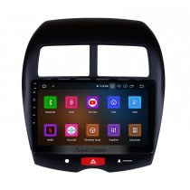 Android 10.0 GPS Radio 10.1 Inch HD Touchscreen Head Unit For 2010-2015 Mitsubishi ASX Peugeot 4008 GPS Navigation System Bluetooth Phone WIFI Support Mirror Link DVR Steering Wheel Control