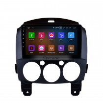 9 Inch HD Touch Screen GPS Navigation System Android 10.0 Radio For 2007-2014 Mazda 2 Support Vedio Carplay Remote Control Bluetooth 4G WIFI DVD Player