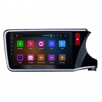 10.1 inch Android 10.0 HD Touch Screen radio GPS navigation System for 2014 2015 2016 2017 Honda CITY (RHD) with Bluetooth Music Mirror Link OBD2 3G WiFi Backup Camera 1080P Video AUX Steering Wheel Control