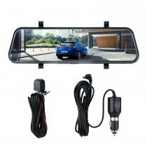 9.66 inch 170 Degree Large Angle HD 1600*400 car USB DVR Rearview Camera Automatic Cyclic Recording mirror dash cam