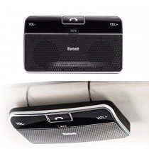 Dual Phone Connection Sun Visor Wireless Bluetooth Handsfree Speakerphone with High Sensitivity Microphone DSP Noise Suppression
