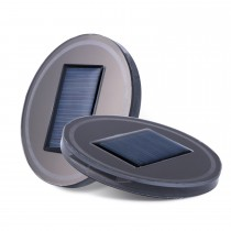 Solar Energy Car Universal Cup Holder Pad LED Cover Mouldings Trim Bottom Mat 2pcs