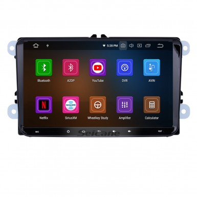 9 inch Android 9.0 Radio Car Navigation Head Unit for 2008-2013 Skoda Seat  VW Volkswagen Passat Tiguan Polo Scirocco with 4G WiFi Mirror Link OBD2 Bluetooth Steering Wheel Control