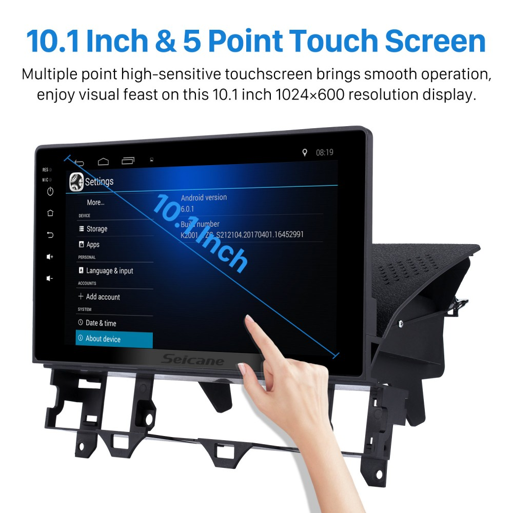 10 1 inch HD Touch Screen Android 6 0 Radio for 2003-2008
