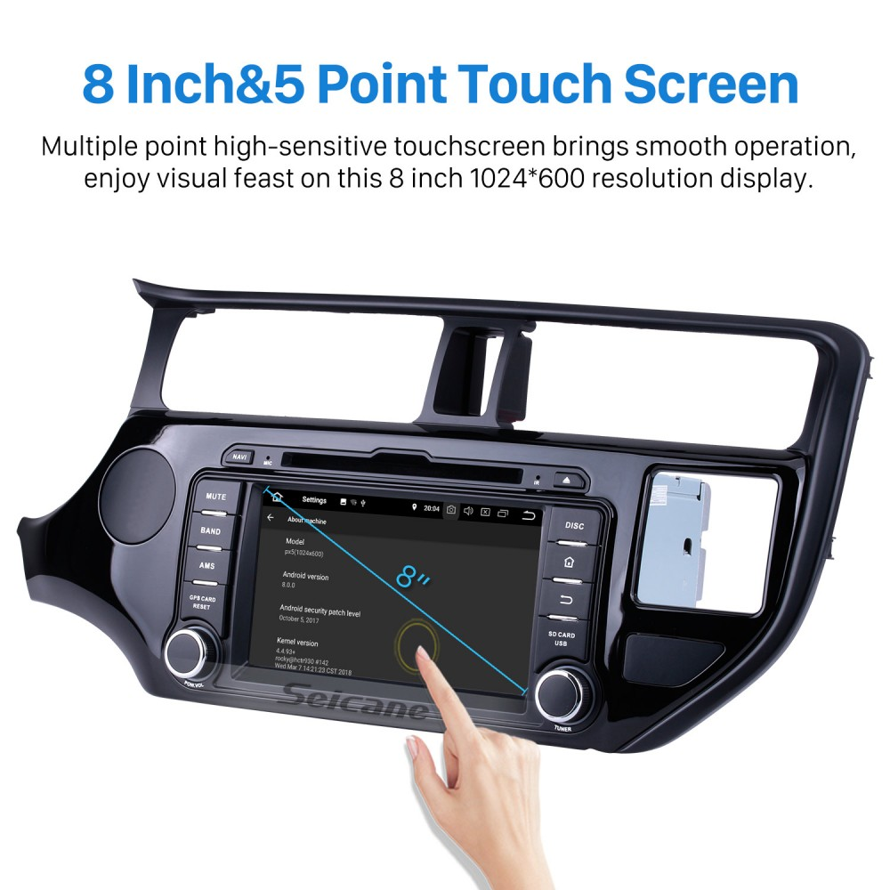OEM Android 8 0 GPS navigation system for 2011 2012 KIA RIO