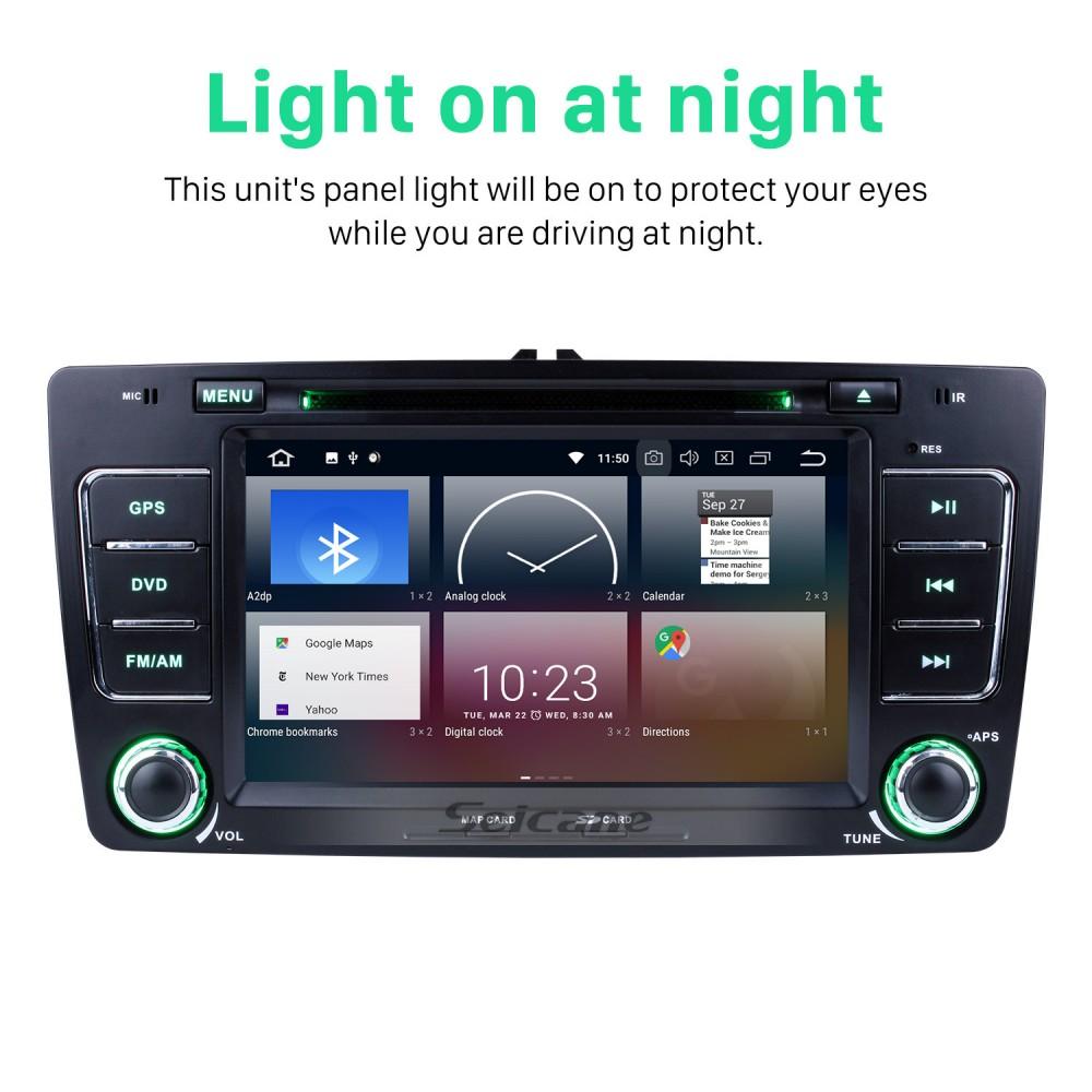 HD 1024*600 Android 9 0 2009-2013 Skoda Octavia Radio