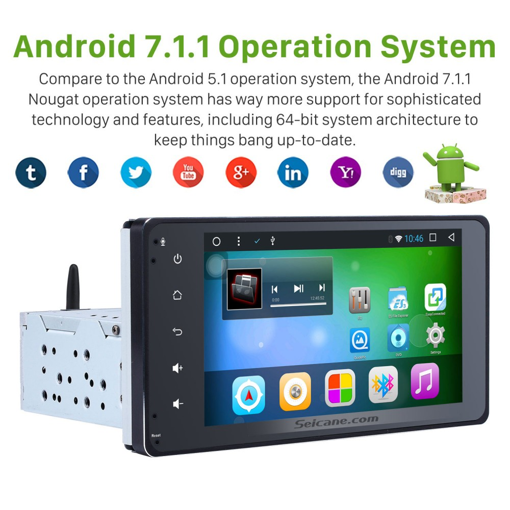 Aftermarket Android 7 1 Touch Screen GPS Navigation system
