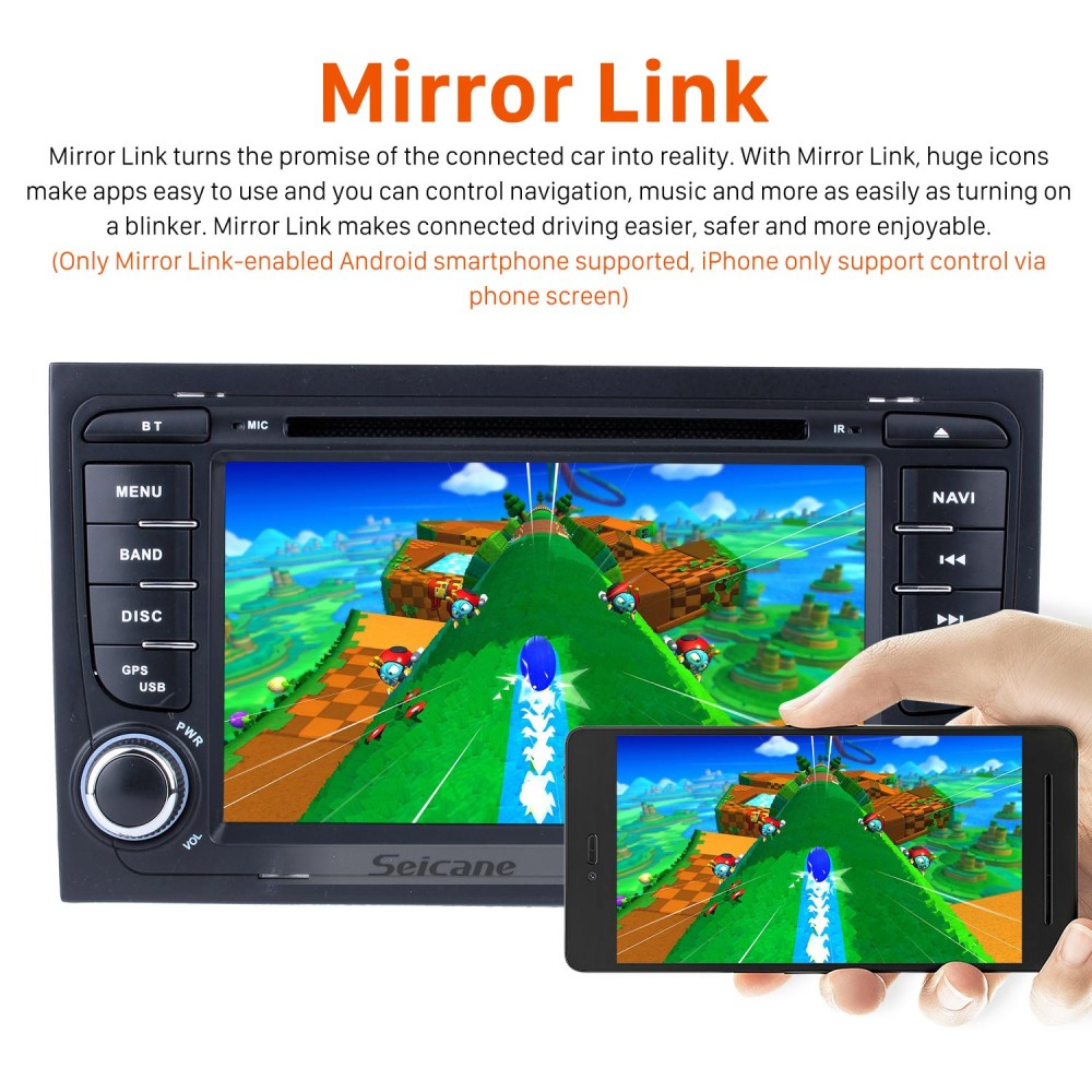 HD 1024*600 Multi-touch Screen Android 9 0 DVD Navigation