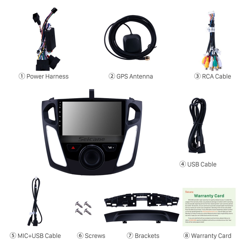 Android 9 0 9 inch 2012-2015 Ford Focus HD Touchscreen GPS