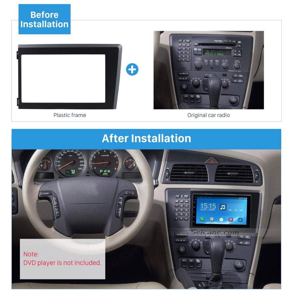 Car Stereo Radio Installation Dash Kit for 2001 2002 2003 2004 Volvo S60//V70