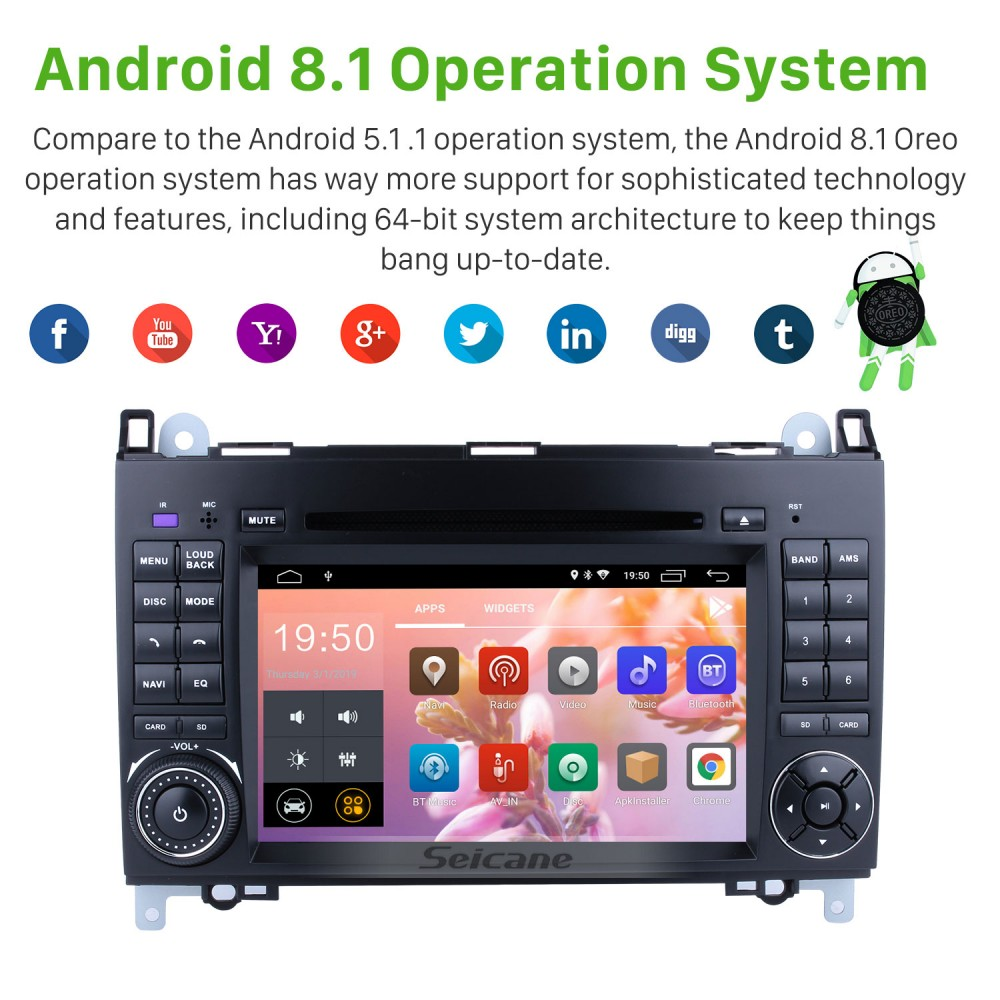 Android 8 1 Radio Head Unit 7 Inch HD Touchscreen For 2004