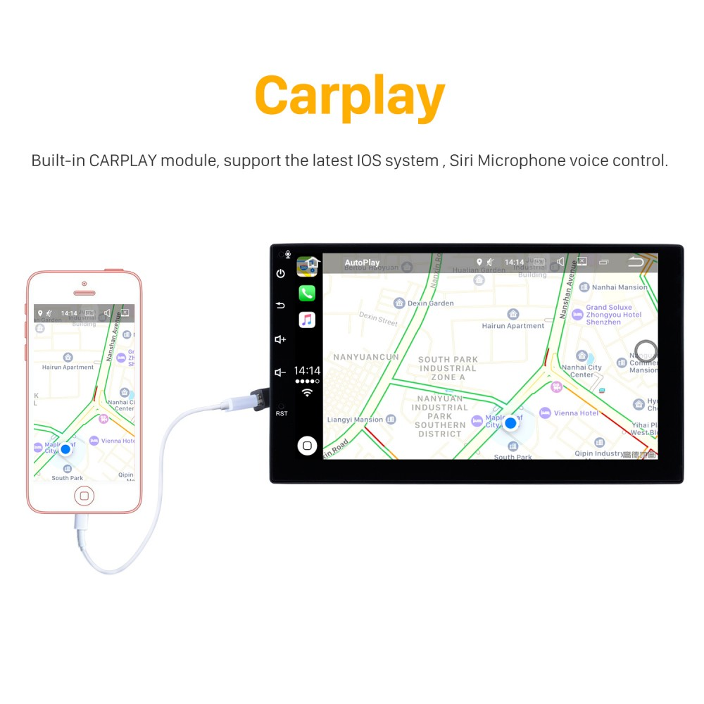 10 1 Inch Android 9 0 Bluetooth GPS Navigation System for