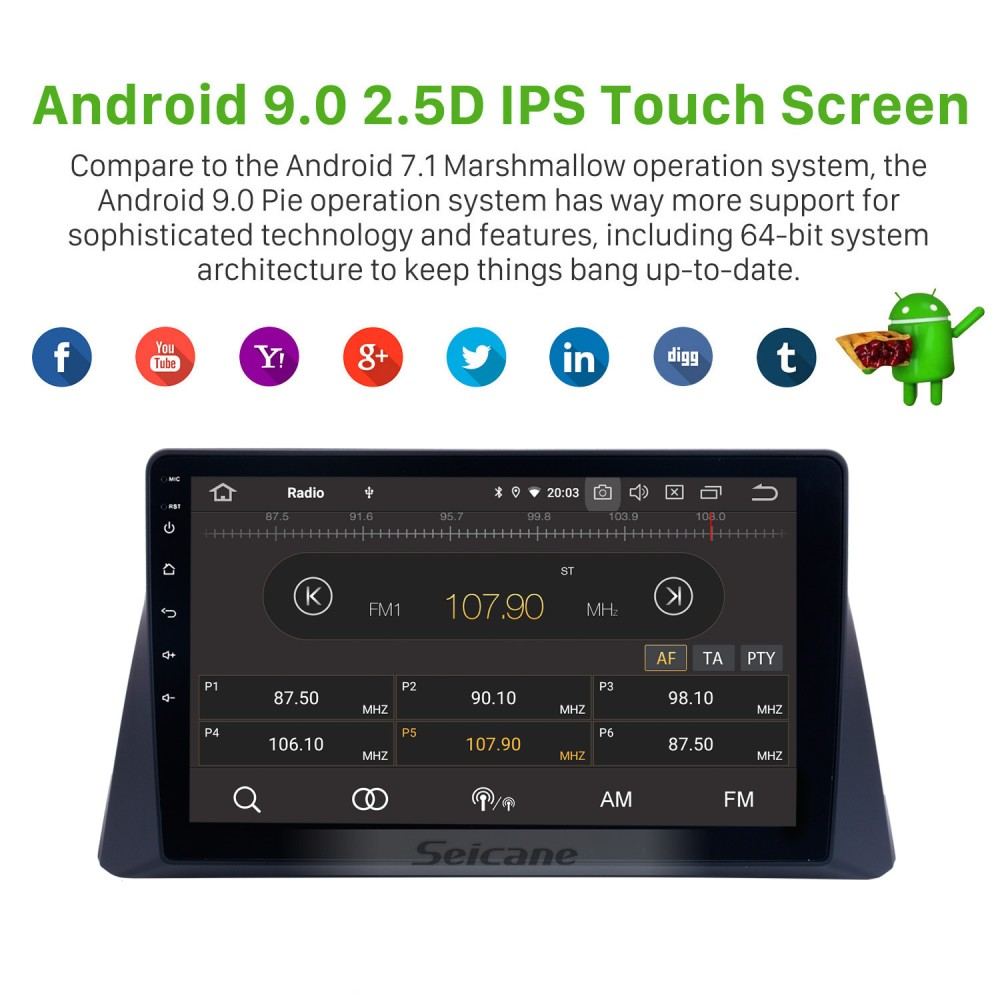 10 1 Inch HD Touch Screen Android 9 0 Car Stereo Radio For