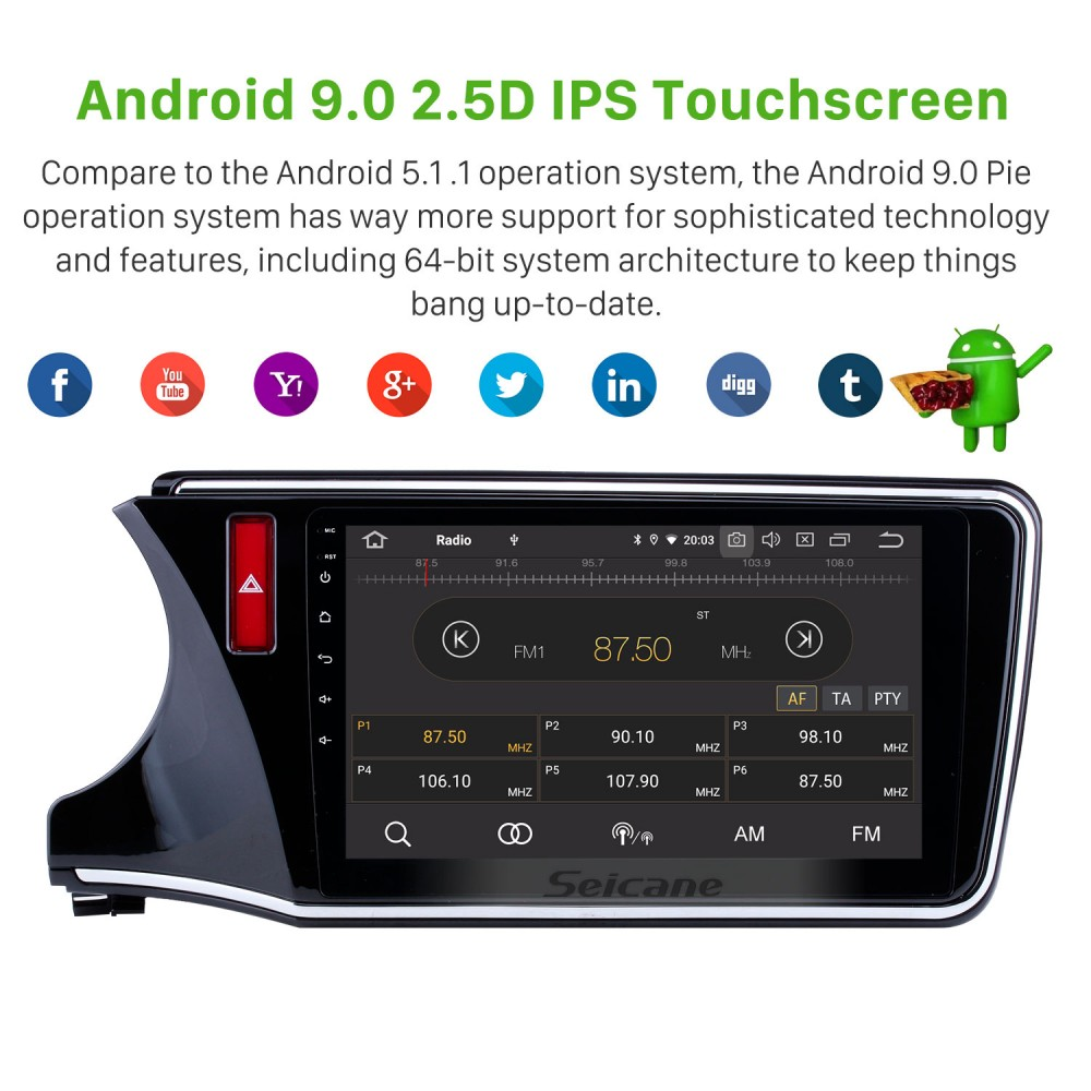10 1 inch Android 9 0 Radio GPS Navigation For 2014-2017
