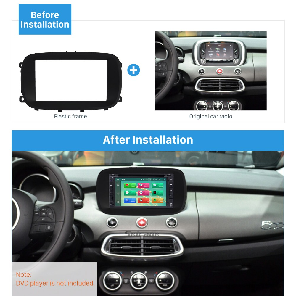 2 Din Car Stereo Radio Fascia Panel Install Frame Dash Bezel Trim for VW Passat