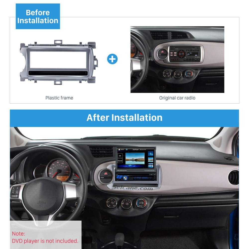 Xcent 2014-2017 Right Wheel with 17398mm//173100mm//178102mm Double Din in Dash Car Stereo Installation Kit Car Radio Stereo CD Player Dash Install Kit Compatible Fit for i-10 2013-2016