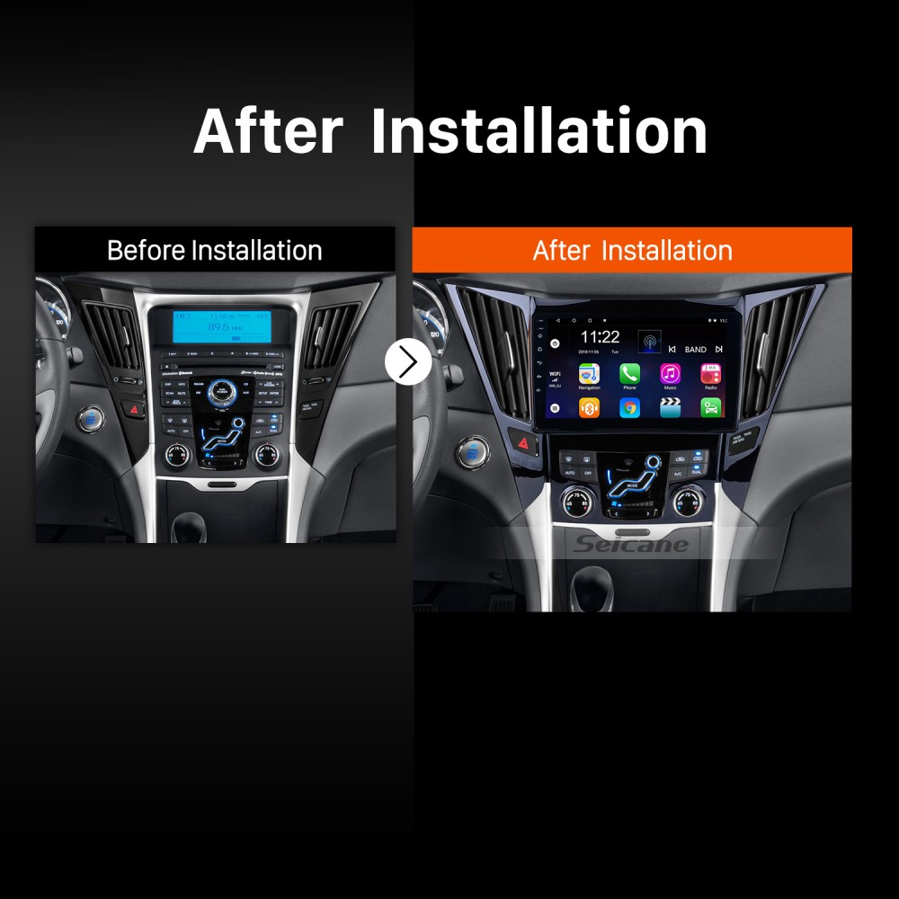 9 Inch All-in-One Android 8 1 GPS Navigation system For 2011